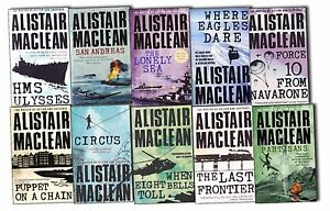 Alistair-Maclean-10-Books-Collection-Pack-Set-The-Lonely-Sea-HMS-Ulysses-Circus