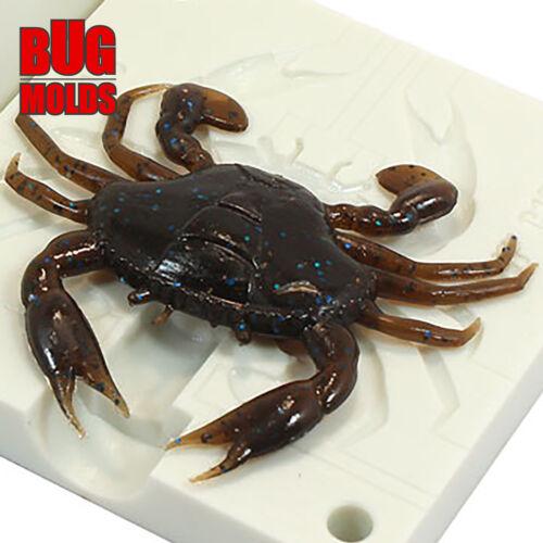Lure Bait Mold Fishing Soft Plastic Molde de Cebo Köderform Moule d/'appât Crab