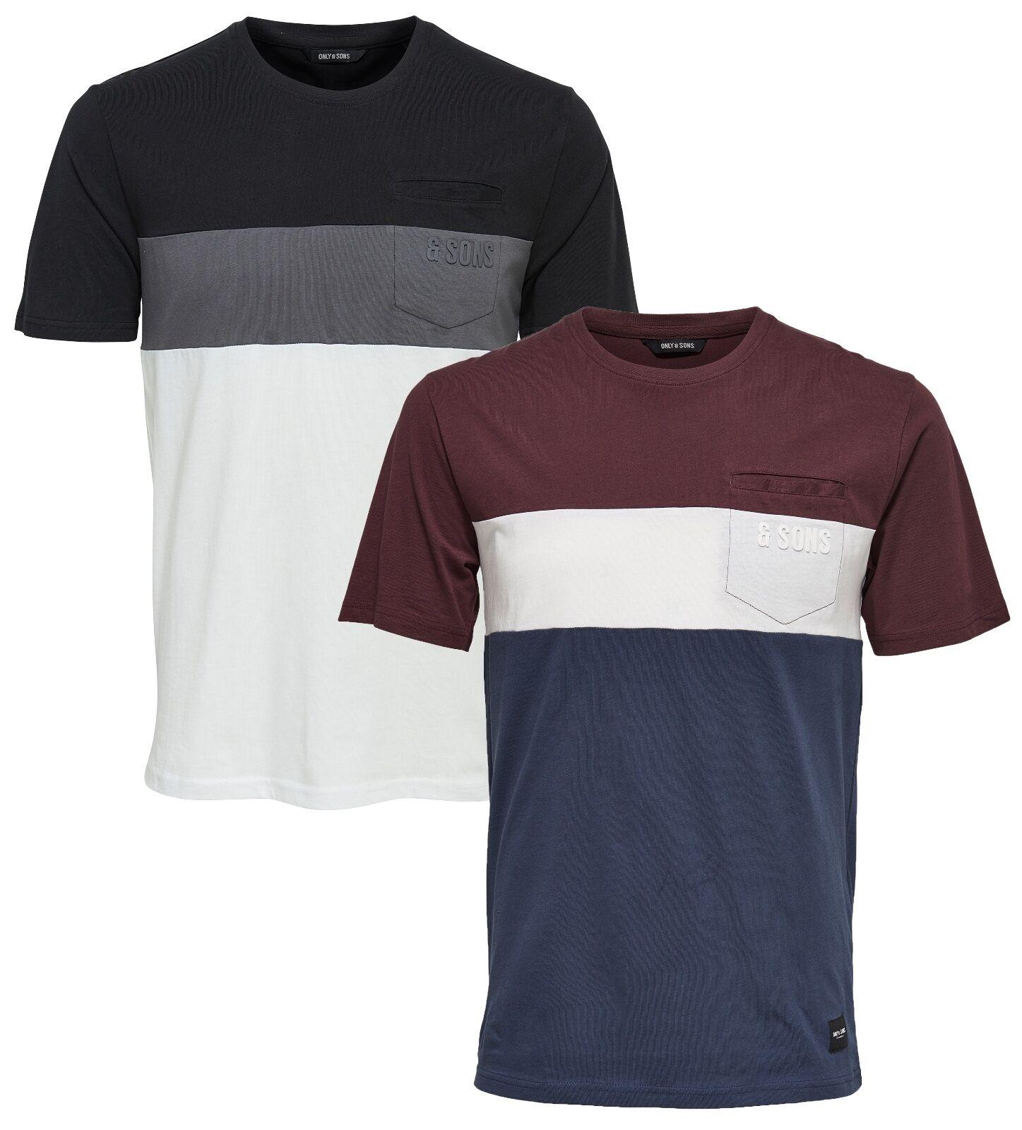Sons New Men's Contrast Anatolie Stripe Mono Fashion Cotton T-shirt Top