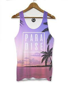 Purple-Paradise-Tropical-Mens-VEST-Top-Holiday-Shirt-Tank-Top-Singlet-Man-175