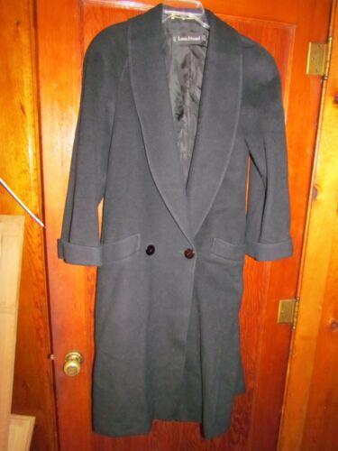 Louis Feraud BLACK Wool VTG Long Dress Coat Elegan