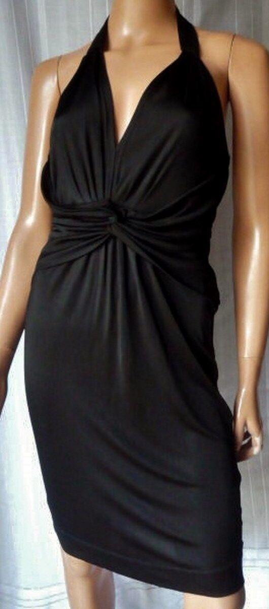 RosaO ABITO DRESS VESTITO ELEGANTE e SEXY TG.S in VISCOSA 100% Farbee schwarz