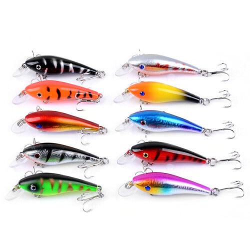 1pc Eye Minnow Fishing Lures 5.7cm Crank Bait Floating Tackle 4.4g Plastic Metal