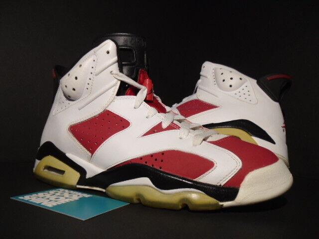Nike Air Jordan VI 6 Retro CDP COUNTDOWN CARMINE RED WHITE BLACK 322719-161 8.5