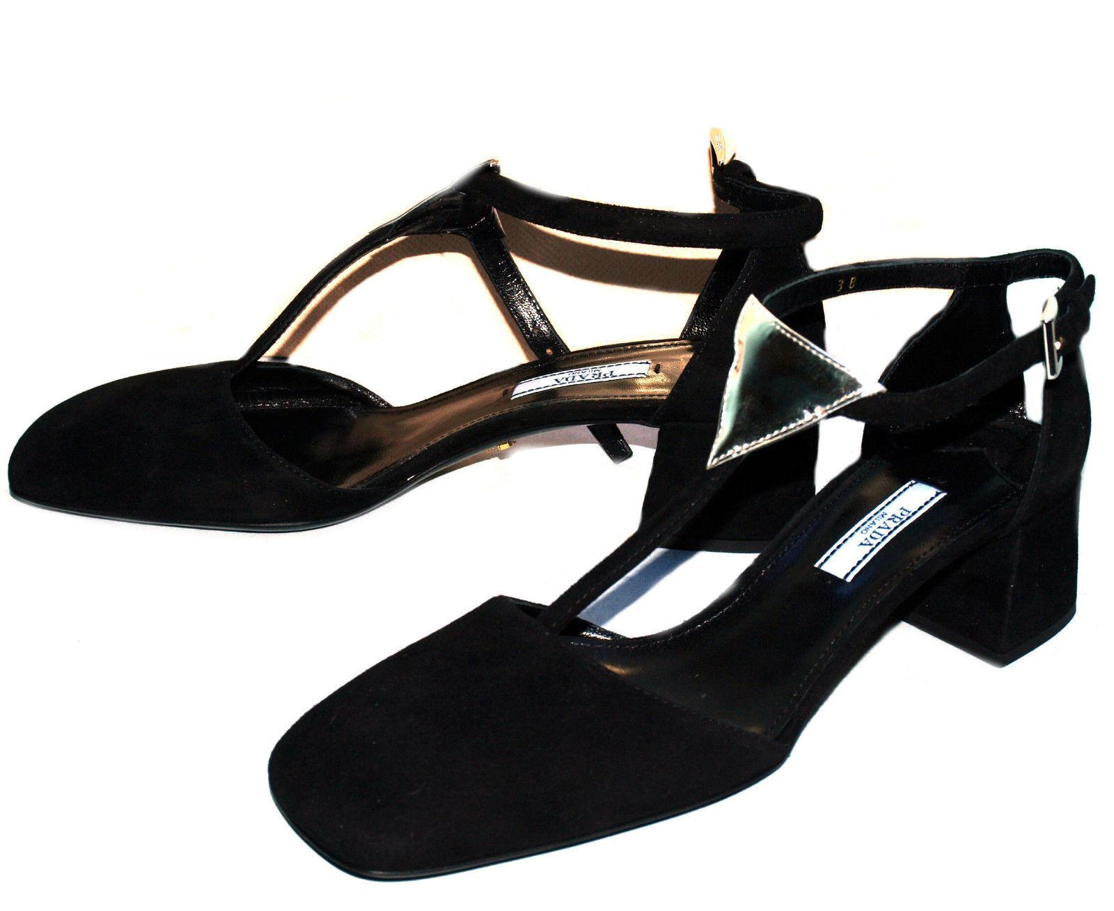 Prada Decollete Decollete Prada scarpa nera pelle scamosciata 38 EU a8badc