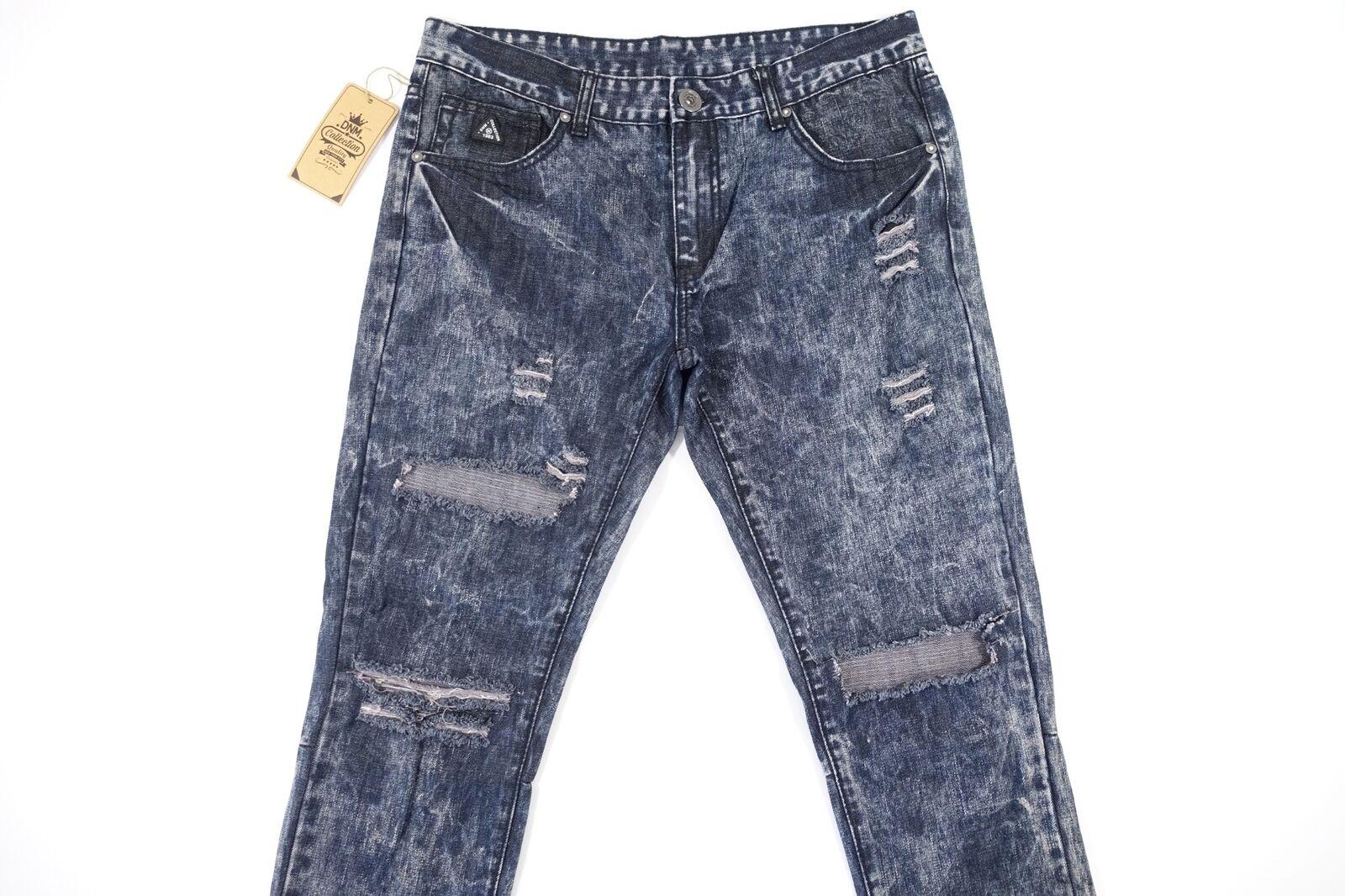Dnm Collection Verblichen Säure Schwarz Blau Zerrissen Schnitt Knie 34    Zu einem erschwinglichen Preis    Vogue    Umweltfreundlich