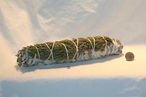 CALIFORNIA-WHITE-SAGE-amp-JUNIPER-Smudging-Sage-for-Burning-8-to-9-Inch-Blend