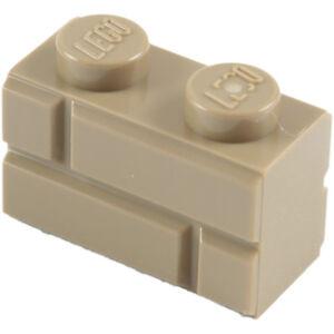 Pack of 8 Choose Colour Design 98283 LEGO Embossed // Profile Bricks 1x2