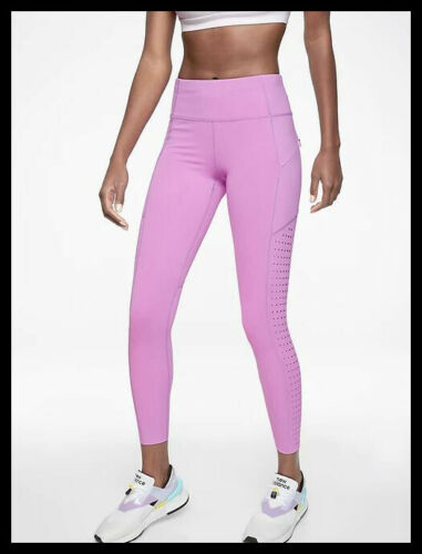Athleta NWT Women/'s Contender Laser Cut 7//8 Tight size Small Tall Violet Blush