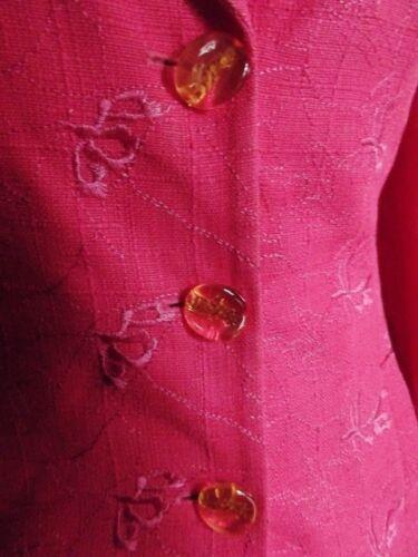 Framboise Veste T 38 Ramie Couture Vintage Lacroix 1gIndqXxX