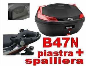 GIVI B47N + SR46M + E131 BAULETTO YAMAHA MAJESTY 125 150 180 2001 ... 7a42fd779604