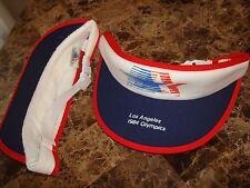 OLYMPIC 1984 LA 80'S OLYMPICS USA  VINTAGE  HAT CAP ADJUSTABLE STRAPBACK VISOR