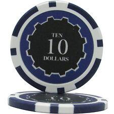 50pcs Eclipse Poker Chips $10