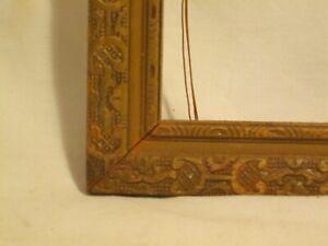 Unique Carved Ornate Design Vintage Wood Picture Frame Wooden Wall