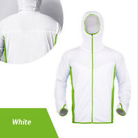 Mens Fishing Clothes Sun Protection T-shirts Anti-uv Breathable Quick Dry Tops