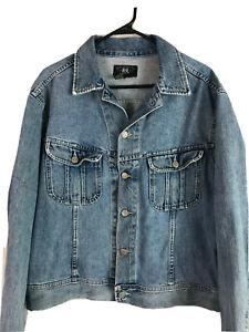 Vintage-90s-Double-RRL-Ralph-Lauren-Denim-Jeans-Jacke-Herren-Large-Blue-Light-Wash