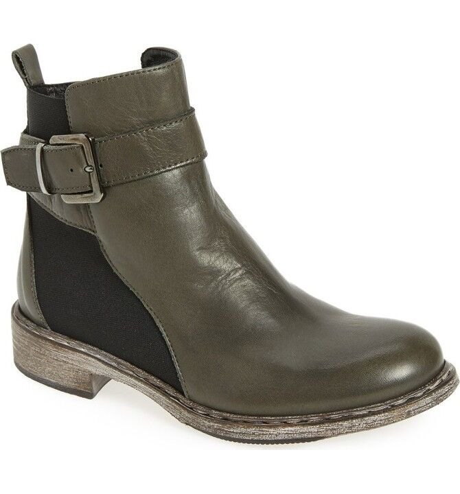 NEW Cordani Palmeri Ankle Booties, Grey Leather, Women Size 38 (8 US) $380