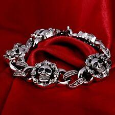 Skull  Link Men's Bracelet