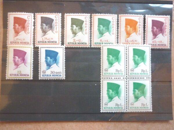 Ambitieux L'indonésie 12 Marques ** De 1964-1966