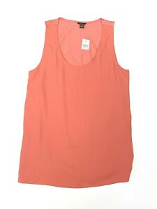 Ann-Taylor-NWT-New-Womens-S-Sienna-Pink-Sleeveless-Blouse-Tank-Top-Scoop-V-Neck