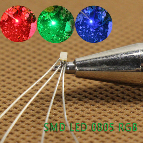 T0805RGB 20-40pcs Pre-soldered micro litz wired leads Red Green Blue SMD Led