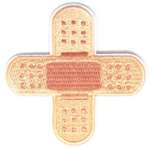 Plaster Iron On Patch Kids First Aid Band Aid Bandage Applique Crafts Badge Sew