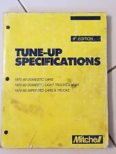 Mitchell TUNE-UP SPECIFICATIONS 1970-1993 Domestic & Imported CAR Truck MANUAL