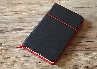 Flex Notebook Pocked dotted Hard Cover Diary Book Journal Black