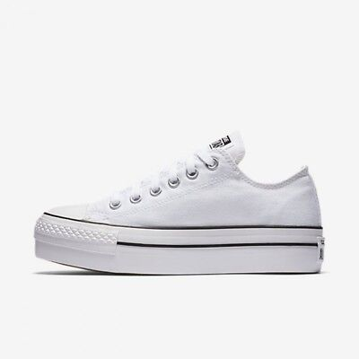 Women's Converse Chuck Taylor All Star Lo Platform Ox, 540265F Multi Sizes White | eBay