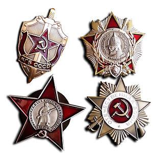 WW2-Russian-Badges-USSR-Pins-KGB-badge-Red-Star-Patriotic-War-amp-Nevsky-Copy