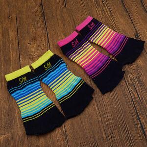 Women-039-s-Yoga-Sock-Half-Toe-5-Toe-Non-Slip-Dance-Sports-Massage-with-Grips-1-Pair