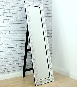 Alma Crystal Glass Frame Silver Cheval Dress Freestanding