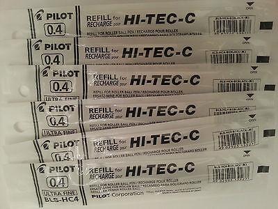 Pilot Hi-Tec-c Gel Pen Refill 0.4mm (6 black)
