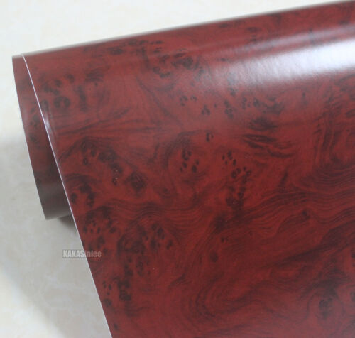 DIY Matte Peacock Wood Grain Textured Vinyl Wrap Sticker Car House Decors #9733