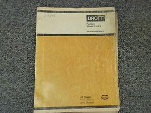 case drott 220ck poclain crawler excavator parts catalog manual book rh ebay com Poclain Excavator Hydraulic Pump Mining Excavator