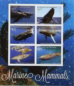 St Vincent & Les Grenadines 2016 Neuf Sans Charnière Mammifères Marins 6v M/s Ii Baleines Dauphins-afficher Le Titre D'origine