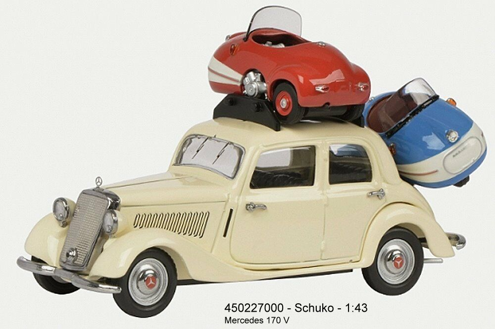 450227000 schuco - mercedes - benz 170v mit 2x br ü tsch mopetta neu