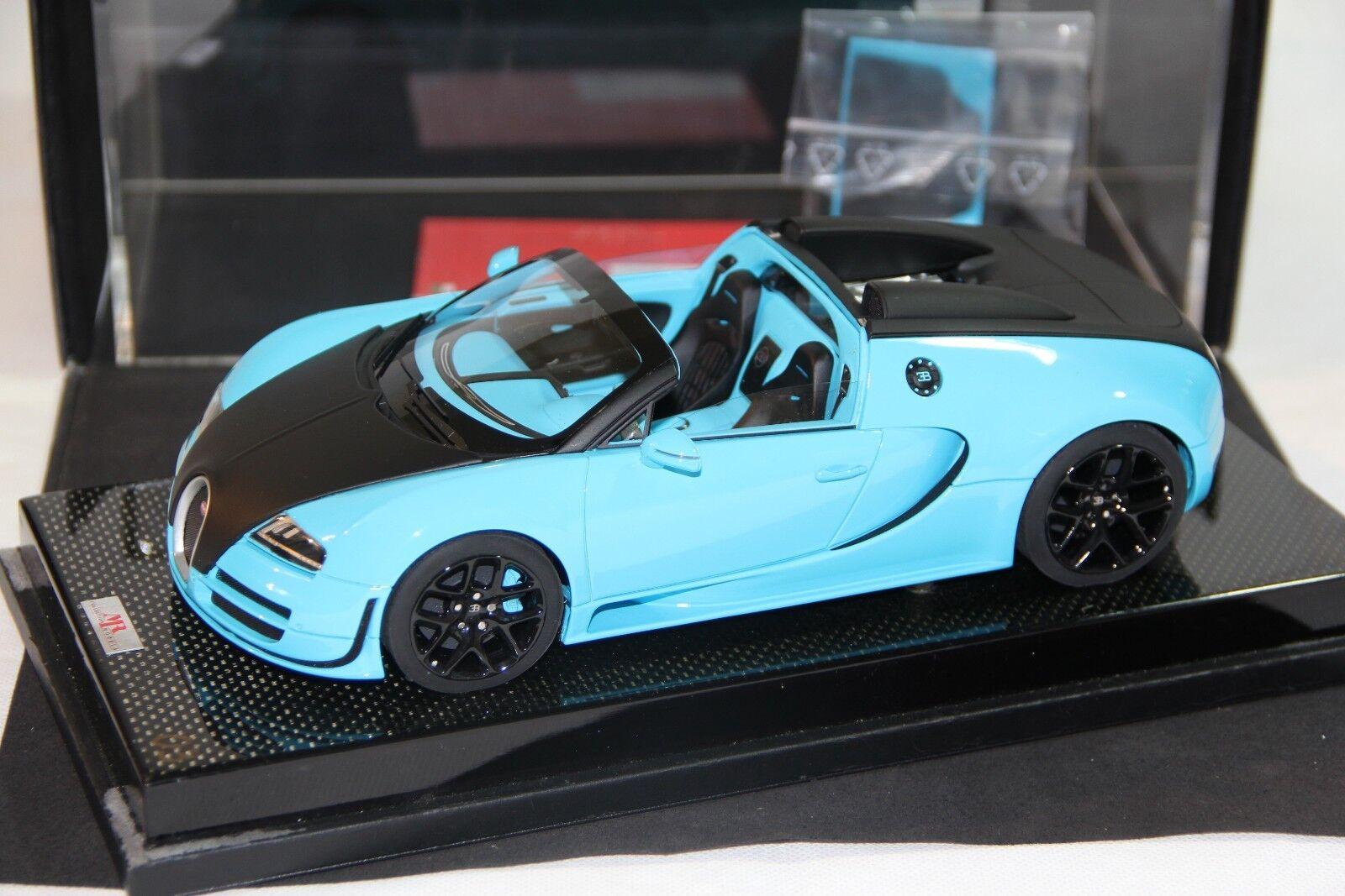Bugatti Veyron Grand Sport Vitesse Bebé Azul en en en la base de carbono, Ltd 15 pc el señor 1 18  Entrega gratuita y rápida disponible.