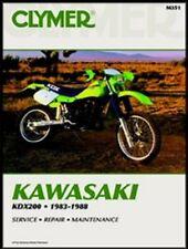 CLYMER SERVICE REPAIR MANUAL M351 KAWASAKI KDX200 1983 1984 1985 1986 1987 1988