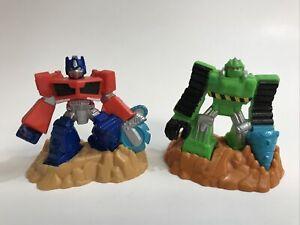 Transformers Rescue Bots Beam Bots Lot Optimus Prime And Boulder