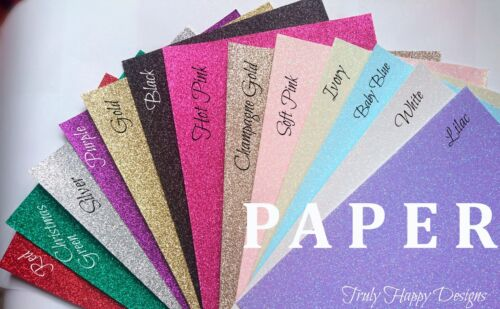A4 Glitter PAPER Premium Soft touch Low Shed 100gsm Greater Flexibility