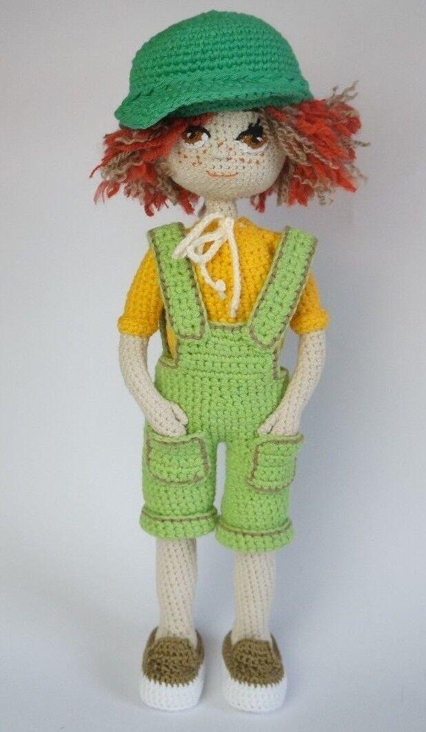 Amigurumi Puppe Nicole Handarbeit Handarbeit Handarbeit gehäkelt Geschenk  ca. 34 cm 8256ab