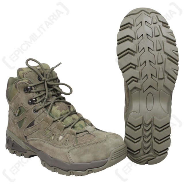 e665c8375a2 MULTICAM Military SQUAD Boots - All Sizes Army Combat Mid Height Hiking  Shoe New