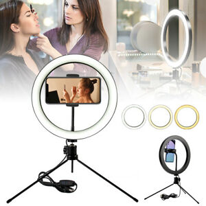 10-039-039-LED-Selfie-Studio-Ring-Light-Photo-Lamp-Dimmable-Tripod-Stand-Phone-Holder