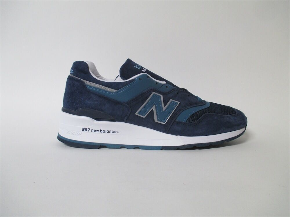 New Balance 997 Navy Blue White Silver Made in USA Sz 7 M997CEF