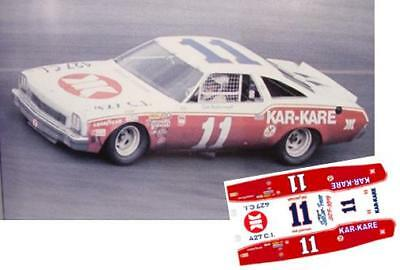 #11 Cale Yaroborough 1978 Chevelle 1//32nd Scale Slot Car Waterslide Decals