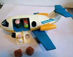 VINTAGE-Fisher-Price-Little-People-183-Aeroplano-FUN-JET-amp-Figure-Giocattolo-Set-1970s