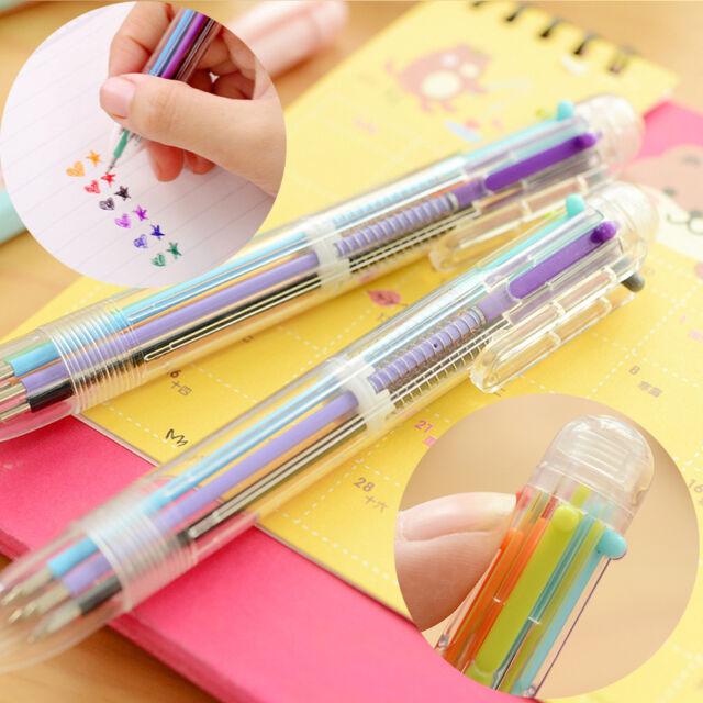 1X Korea Cartoon Cute Colorful  Ballpoint Pen Retractable Office Students Tools