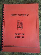 ARISTROCRAT MANUEL 24 Page SLOT MACHINE MANUAL ANTIQUE SLOT MANUEL REPO