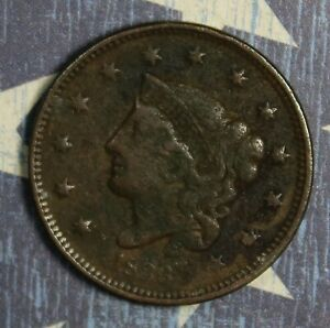 1836 Coronet Head Large Cent Copper Collector Coin FREE SHIPPING